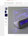Captura de https://es.aliexpress.com/item/Hot-LED-Luminous-Message-Board-Alarm-Clock-With-Calendar-Luminova-LED-Digital-Clock-Desktop-Clocks-Despertador/32760371103.html?src=google&albslr=229244772&isdl=y&aff_short_key=UneMJZVf&source={ifdyn:dyn}{ifpla:pla}%