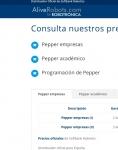 Captura de http://aliverobots.com/precio-pepper/