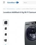 Captura de https://www.carrefour.es/lavadora-addwash-8-kg-wi-fi-samsung-ww80k6414qx/2005052381/p