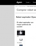 Captura de http://shop.dyson.es/es-ES/aspiradoras/robots/dyson-360-eye-azul-64978-01?istCompanyId=af67f2e3-4f4f-4b80-9890-f9ee67471264&istItemId=xwaaqamamm&istBid=tztx&gclid=CjwKCAiAk4XUBRB5EiwAHBLUMQzkXURewEq-S9M_2indo4aShzY_c6GDVa8SqIIFjFEfL4tj760_FhoCPXIQAvD_BwE