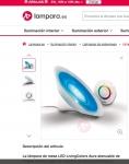 Captura de https://www.lampara.es/lampara-de-mesa-aura-livingcolors-led.html