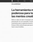 Captura de https://www.apple.com/es/accessibility/mac/vision/
